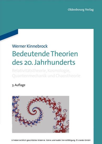 Bedeutende Theorien des 20. Jahrhunderts - Blick ins Buch