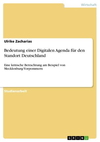 Bedeutung einer Digitalen Agenda für den Standort Deutschland - Blick ins Buch