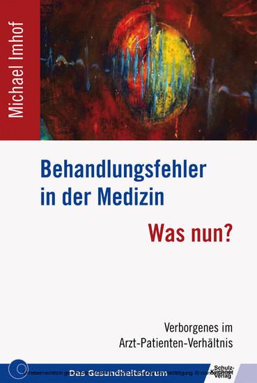Behandlungsfehler in der Medizin - Blick ins Buch