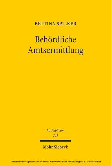 Behördliche Amtsermittlung - Blick ins Buch