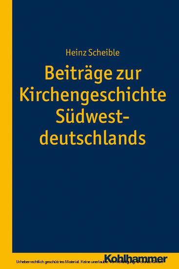 Beiträge zur Kirchengeschichte Südwestdeutschlands - Blick ins Buch