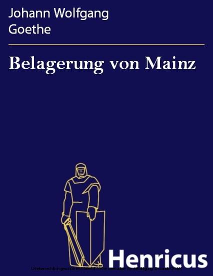 Belagerung von Mainz - Blick ins Buch