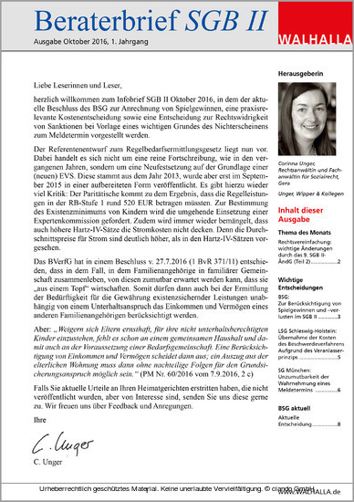 Beraterbrief Pflege Ausgabe Juli 2016/6 - Blick ins Buch