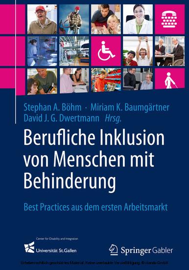 Berufliche Inklusion von Menschen mit Behinderung - Blick ins Buch
