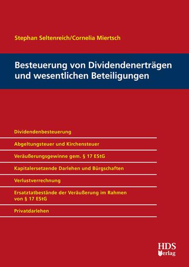 Besteuerung von Dividendenerträgen und wesentlichen Beteiligungen - Blick ins Buch