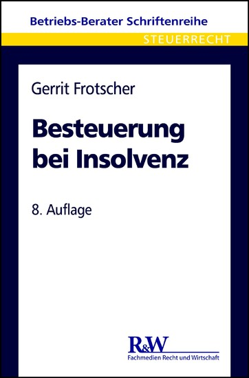 Besteuerung bei Insolvenz - Blick ins Buch