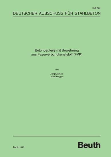 Betonbauteile mit Bewehrung aus Faserverbundkunststoff (FVK) - Blick ins Buch
