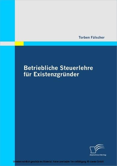 Betriebliche Steuerlehre für Existenzgründer - Blick ins Buch