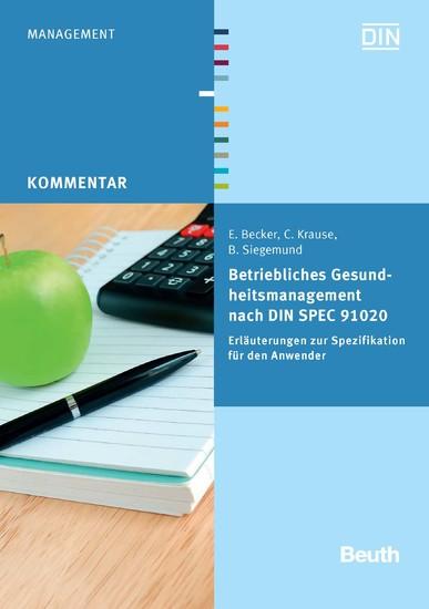 Betriebliches Gesundheitsmanagement nach DIN SPEC 91020 - Blick ins Buch