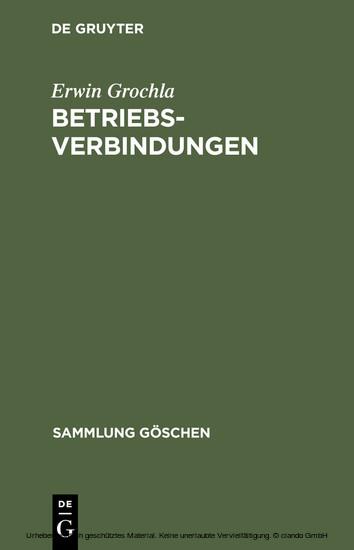 Betriebsverbindungen - Blick ins Buch