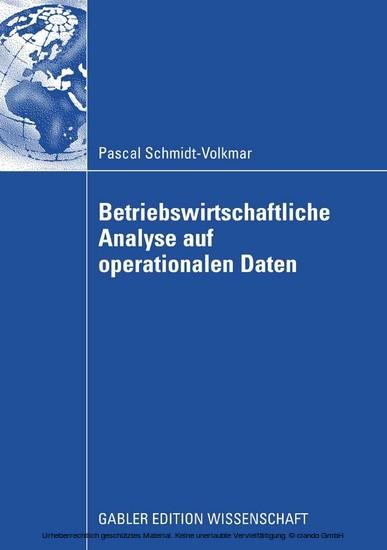 Betriebswirtschaftliche Analyse auf operationalen Daten - Blick ins Buch
