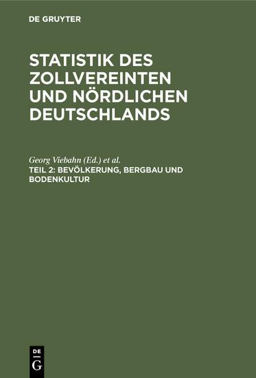 Bevölkerung, Bergbau und Bodenkultur - Blick ins Buch