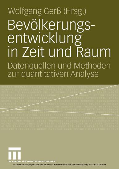 Bevölkerungsentwicklung in Zeit und Raum - Blick ins Buch