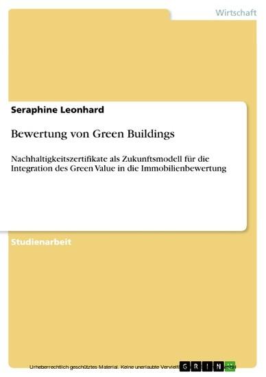 Bewertung von Green Buildings - Blick ins Buch