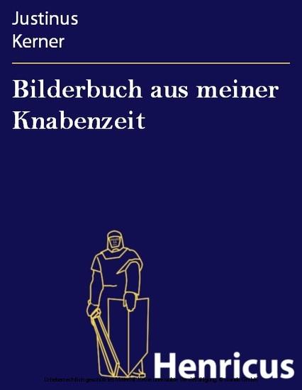 Bilderbuch aus meiner Knabenzeit - Blick ins Buch