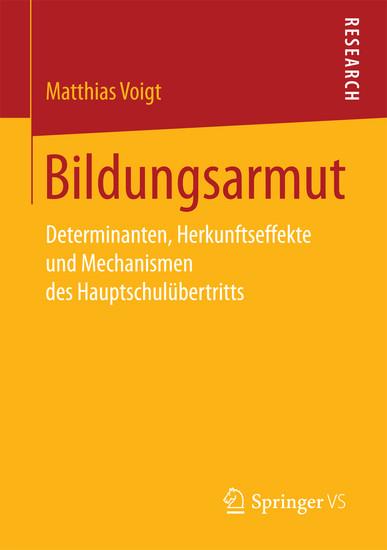 Bildungsarmut - Blick ins Buch