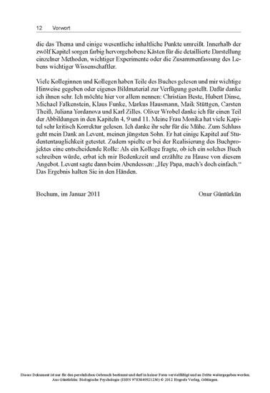 Biologische Psychologie - Blick ins Buch