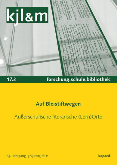 Auf Bleistiftwegen. Außerschulische literarische (Lern)Orte - Blick ins Buch