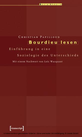 Bourdieu lesen - Blick ins Buch