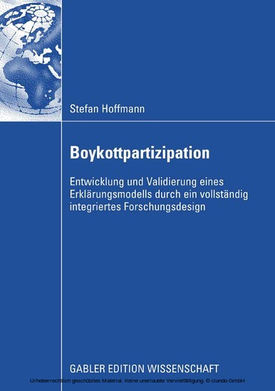 Boykottpartizipation - Blick ins Buch