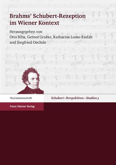 Brahms' Schubert-Rezeption im Wiener Kontext - Blick ins Buch