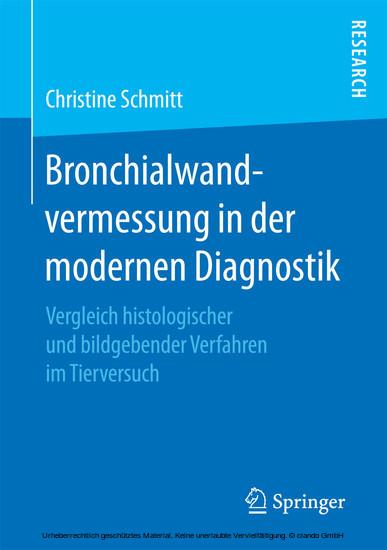 Bronchialwandvermessung in der modernen Diagnostik - Blick ins Buch