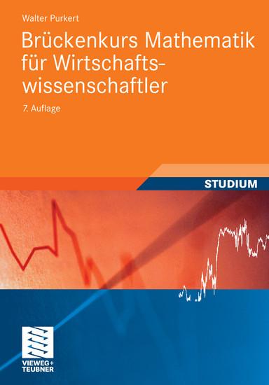 Brückenkurs Mathematik für Wirtschaftswissenschaftler - Blick ins Buch