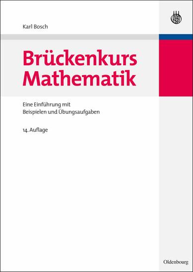 Brückenkurs Mathematik - Blick ins Buch