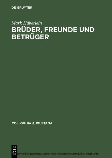 Brüder, Freunde und Betrüger - Blick ins Buch