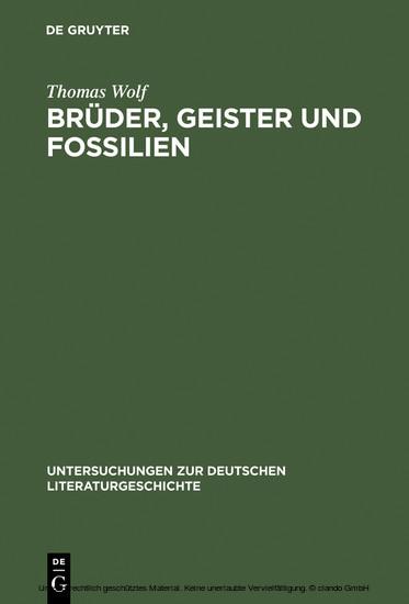 Brüder, Geister und Fossilien - Blick ins Buch
