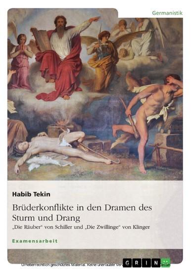 Brüderkonflikte in den Dramen des Sturm und Drang. 'Die Räuber' von Schiller und 'Die Zwillinge' von Klinger - Blick ins Buch