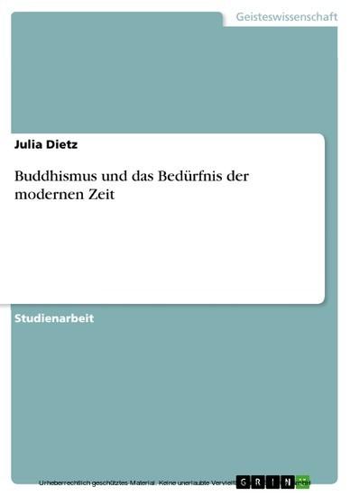 Buddhismus und das Bedürfnis der modernen Zeit - Blick ins Buch