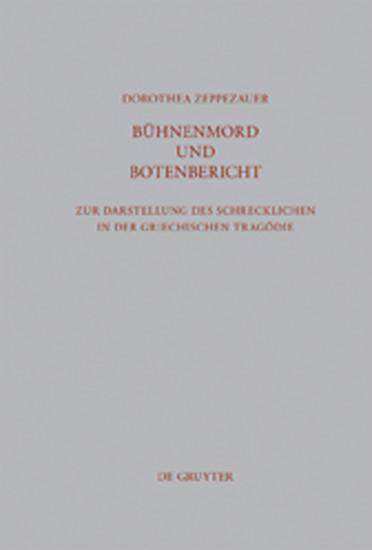 Bühnenmord und Botenbericht - Blick ins Buch