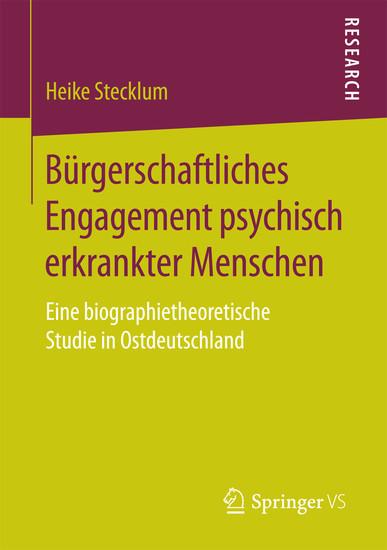 Bürgerschaftliches Engagement psychisch erkrankter Menschen - Blick ins Buch