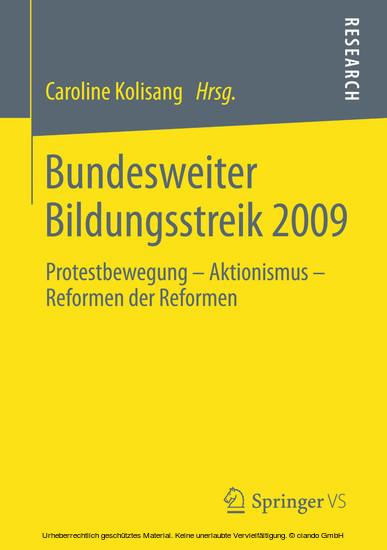Bundesweiter Bildungsstreik 2009 - Blick ins Buch