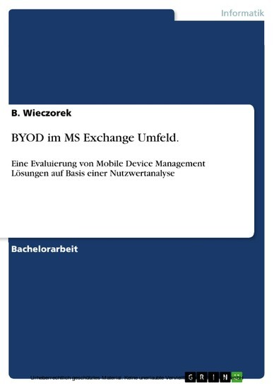 BYOD im MS Exchange Umfeld. - Blick ins Buch
