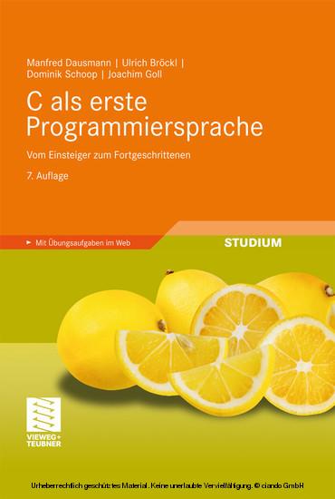 C als erste Programmiersprache - Blick ins Buch