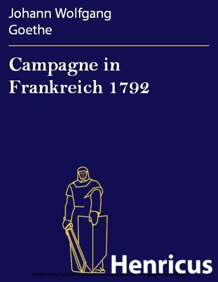 Campagne in Frankreich 1792 - Blick ins Buch