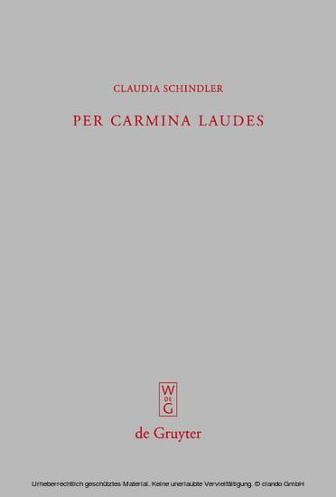 Per carmina laudes - Blick ins Buch