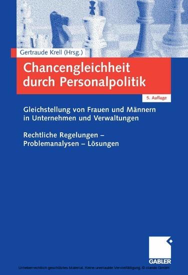 Chancengleichheit durch Personalpolitik - Blick ins Buch
