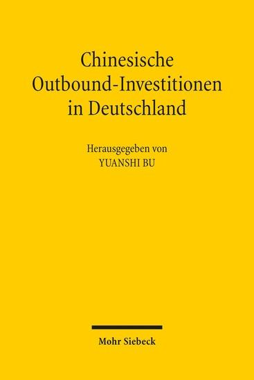 Chinesische Outbound-Investitionen in Deutschland - Blick ins Buch