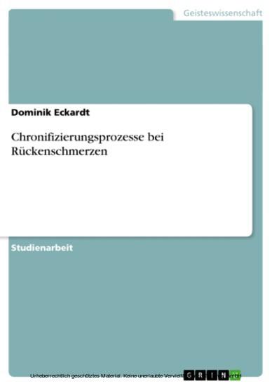 Chronifizierungsprozesse bei Rückenschmerzen - Blick ins Buch