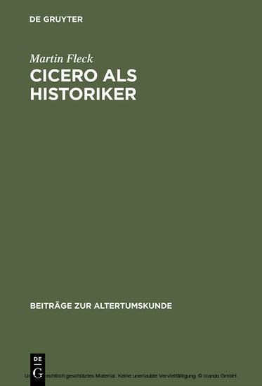 Cicero als Historiker - Blick ins Buch