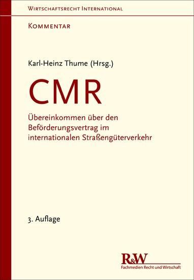 CMR - Kommentar - Blick ins Buch