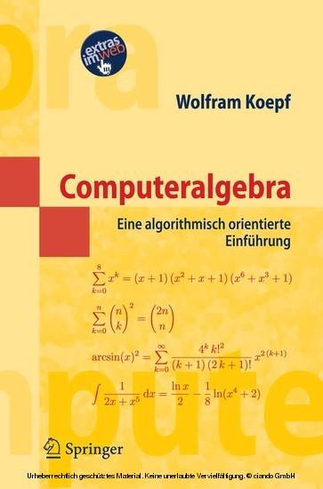 Computeralgebra - Blick ins Buch