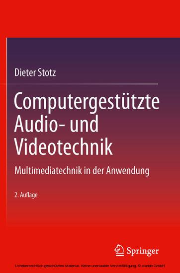 Computergestützte Audio- und Videotechnik - Blick ins Buch