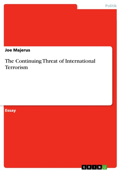 The Continuing Threat of International Terrorism - Blick ins Buch