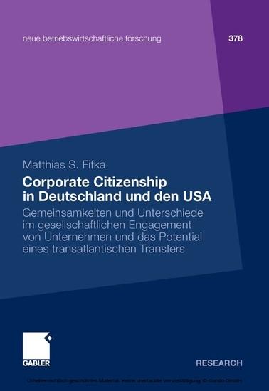 Corporate Citizenship in Deutschland und den USA - Blick ins Buch