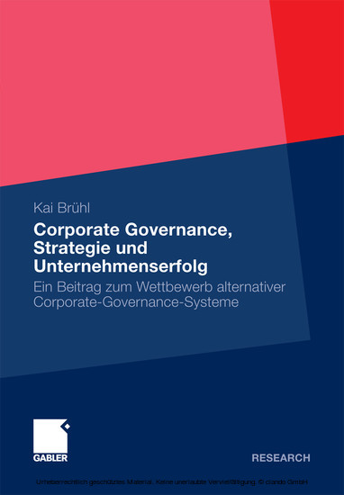 Corporate Governance, Strategie und Unternehmenserfolg - Blick ins Buch