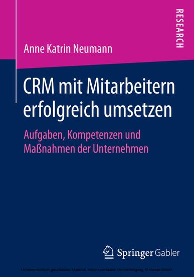 CRM mit Mitarbeitern erfolgreich umsetzen - Blick ins Buch
